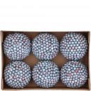 Ball berry 6 pieces per box, D8cm, blue